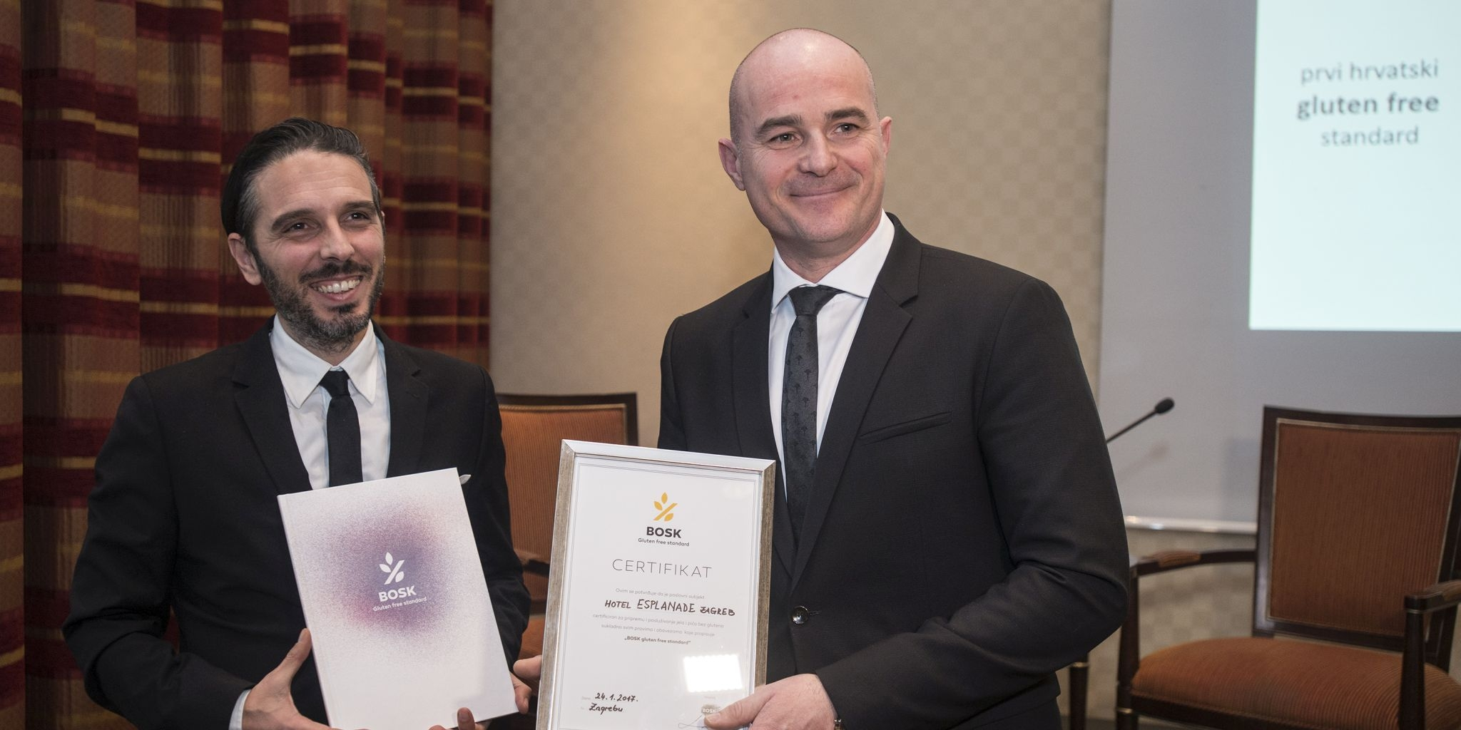 Croatia's Very First BOSK Gluten-Free Standard Awarded to Zagreb's Hotel Esplanade