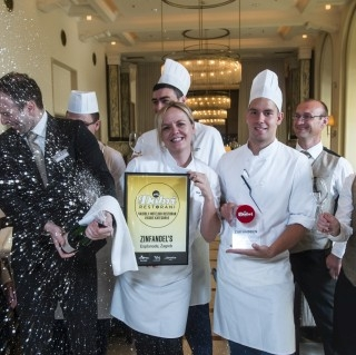 Zinfandel's received a prestigious award  for being the  'Best Hotel Restaurant of High Category in Croatia'