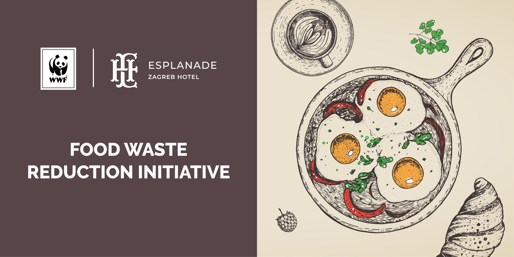 Zagreb's Esplanade Hotel Is the First in Croatia to Recognise WWF's 'Food Waste' Global Initiative  – Aimed at Reducing Food Waste